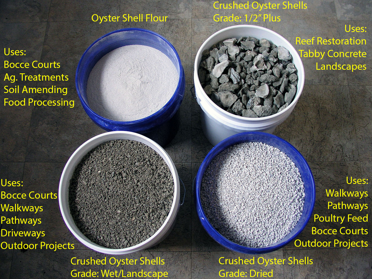 Bulk crushed oyster shells offers wholesale and truckload for Crushed oyster shells for landscaping